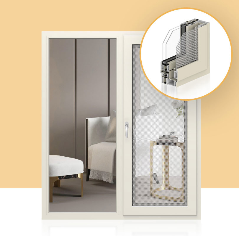 Aluminium frame casement window