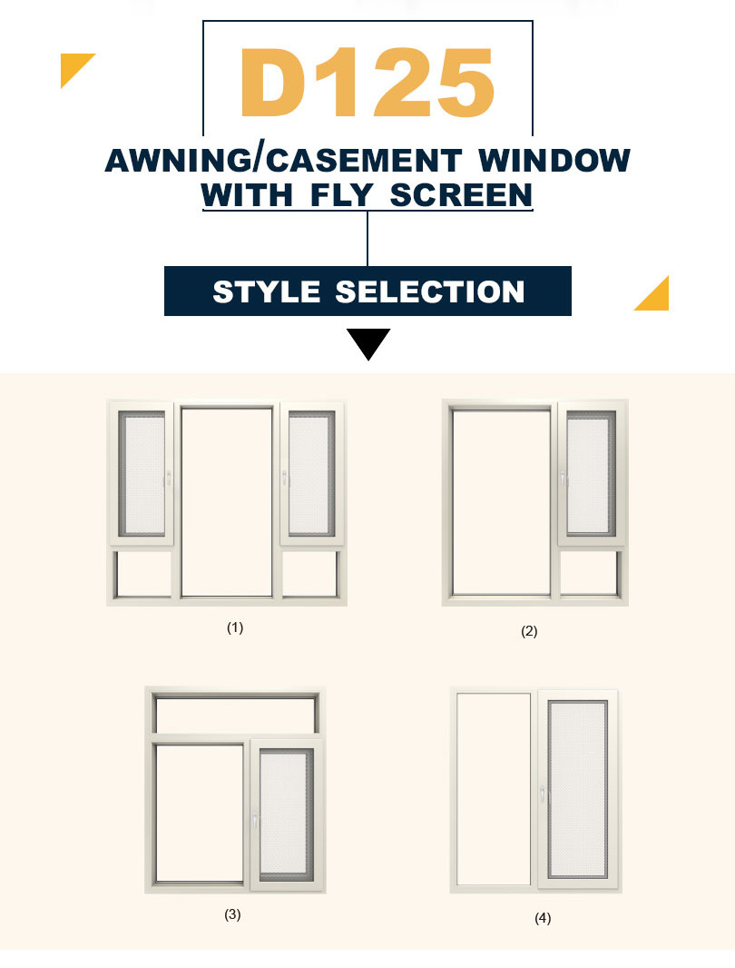 Classic Aluminium Frame Casement Window for Home