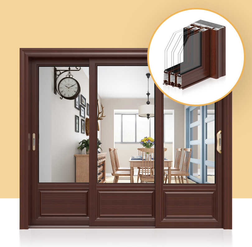 Safety Three linkage Sliding Door